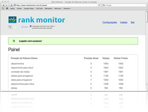Rank Monitor - ferramenta SEO da Conversion