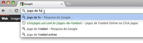 Barra de navegação do Google Chrome