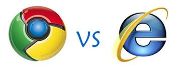 Chrome versus Internet Explorer