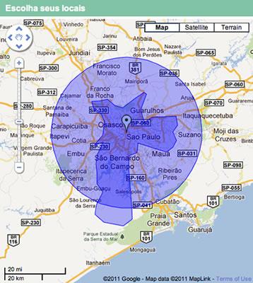 Links Patrocinados - Segmentação por região