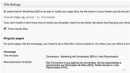 WordPress: título SEO
