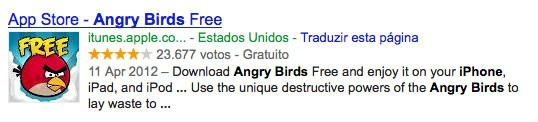 SERP Angry Birds
