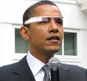 Google Glass - Barack Obama usando o óculos do Google
