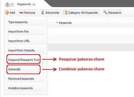 Pesquisar Keywords no AWR