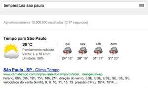 Busca Temperatura de São Paulo