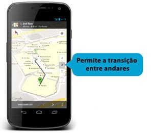 Andares no Google Maps Indoors para Android