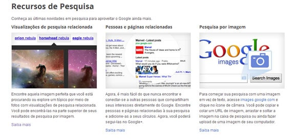 Google Inside Search novos recursos