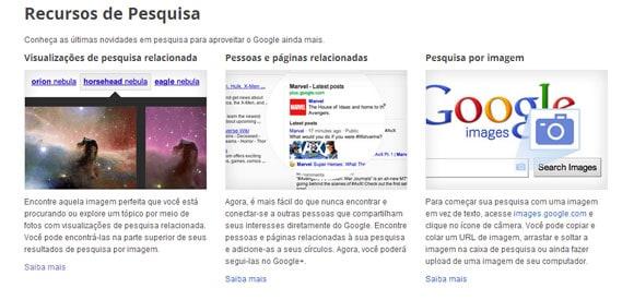 Google Inside Search novos recursos