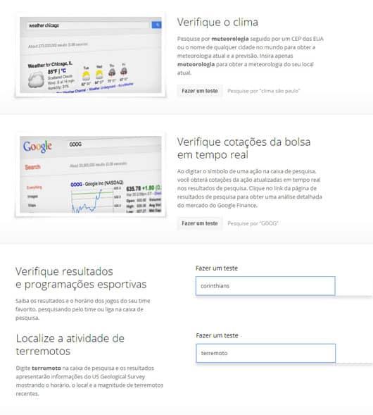 Pesquisa sofisticada Google Inside Search