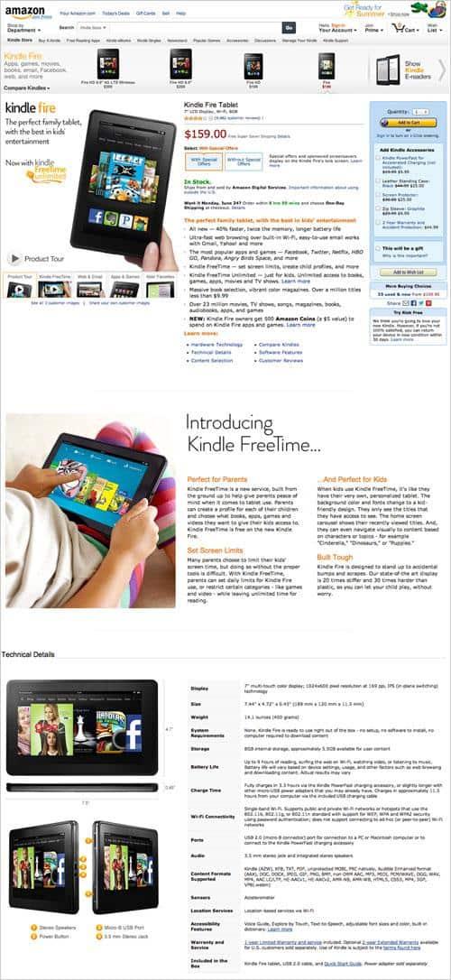 landing page Amazon