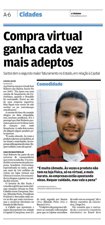 Conversion na Tribuna de Santos Pg1