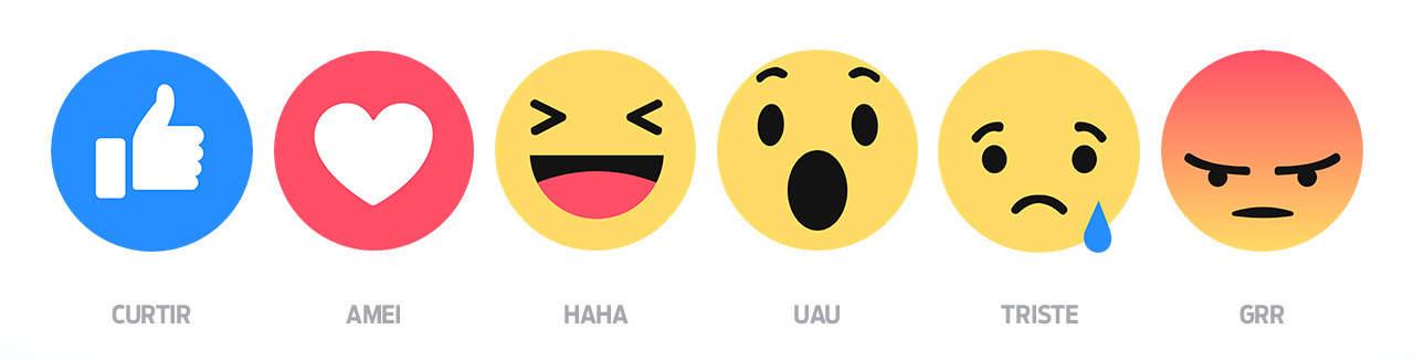 Novos botões Facebook
