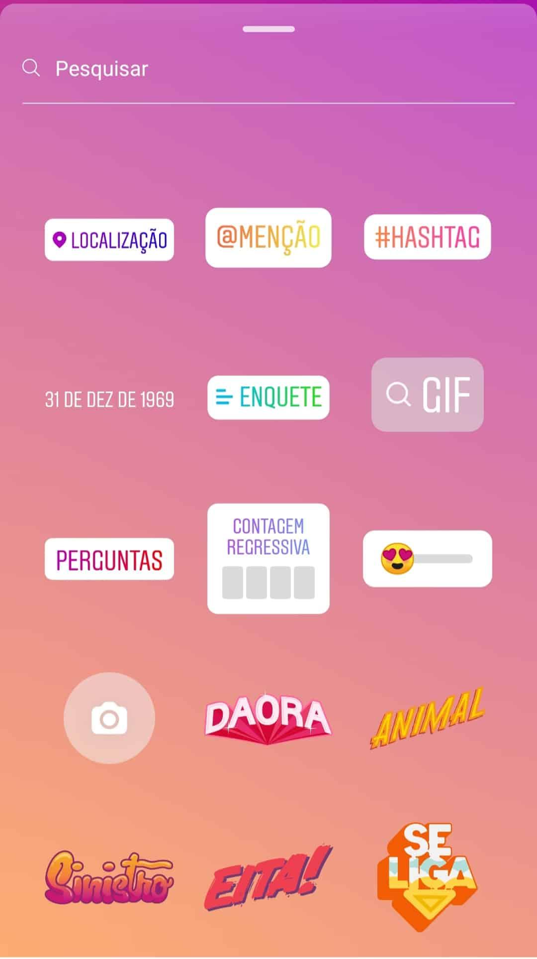 Adesivos Instagram