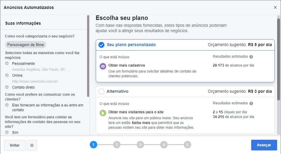 Planos Facebook