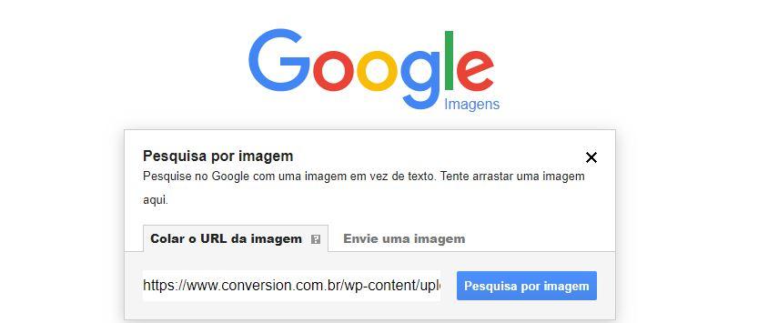 Pesquisa por imagem no Google Imagens