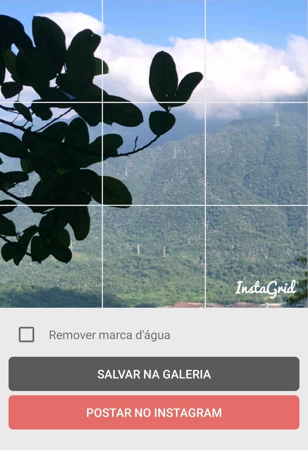 Mosaico Instagram Postar