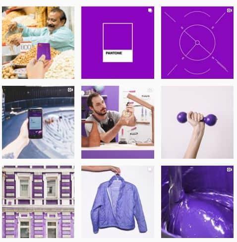 Organizar feed do Instagram Por cor