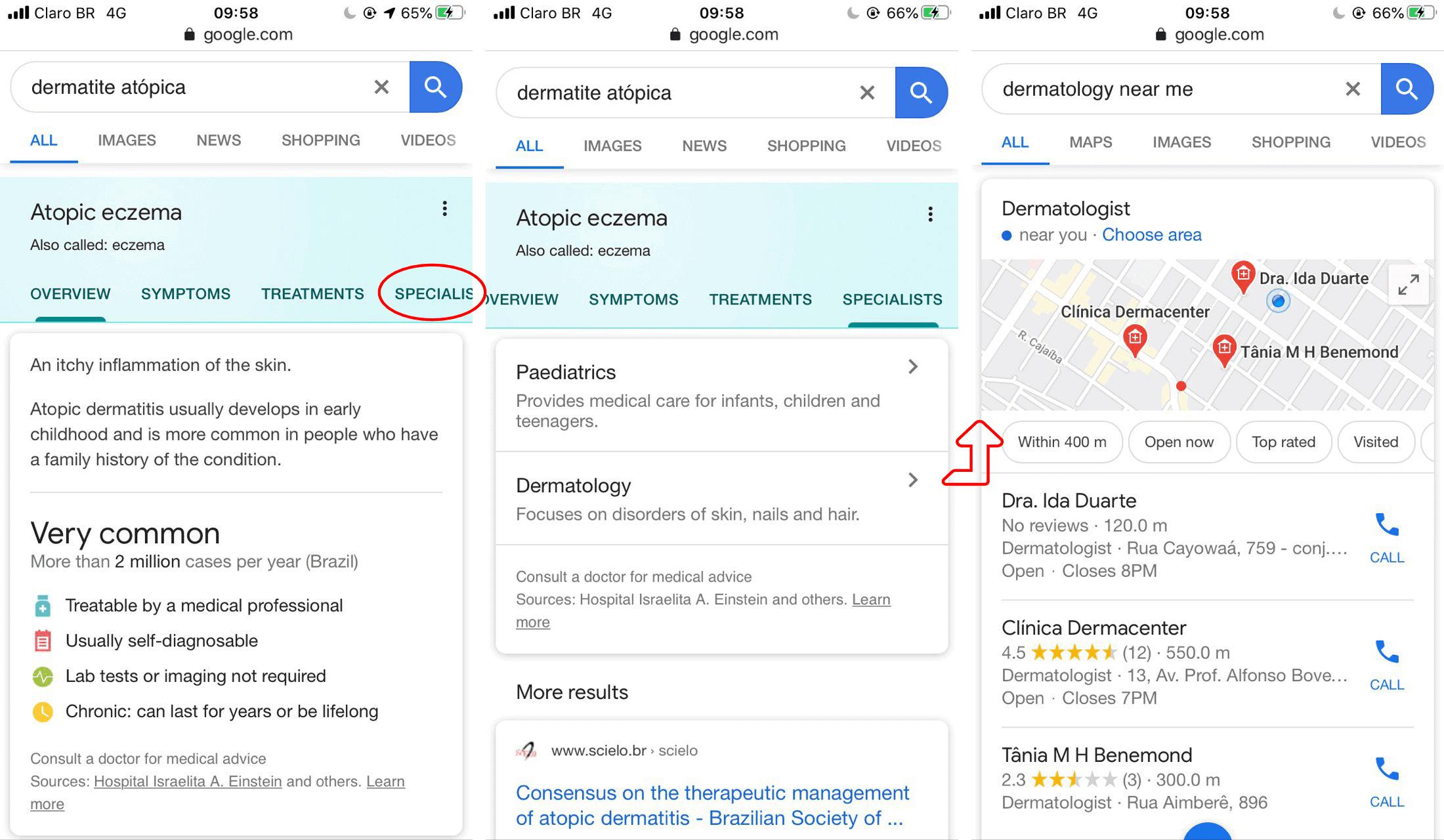 google health search