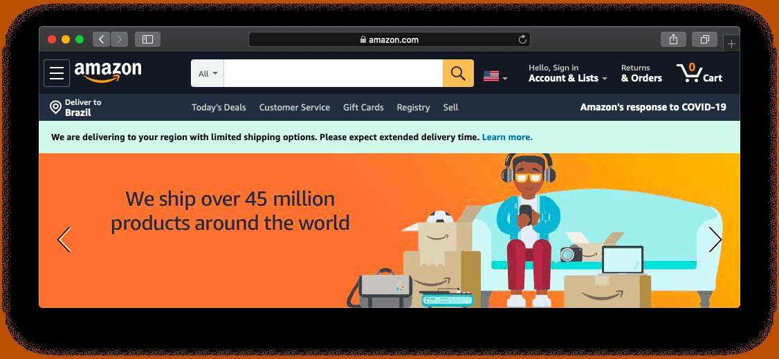 Site da Amazon