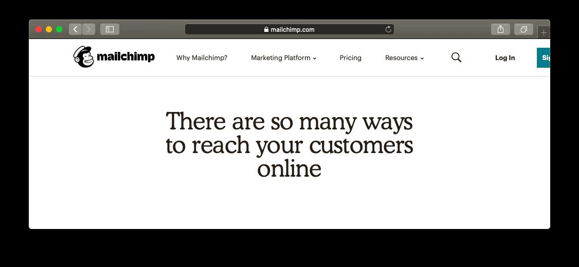Site da MailChimp