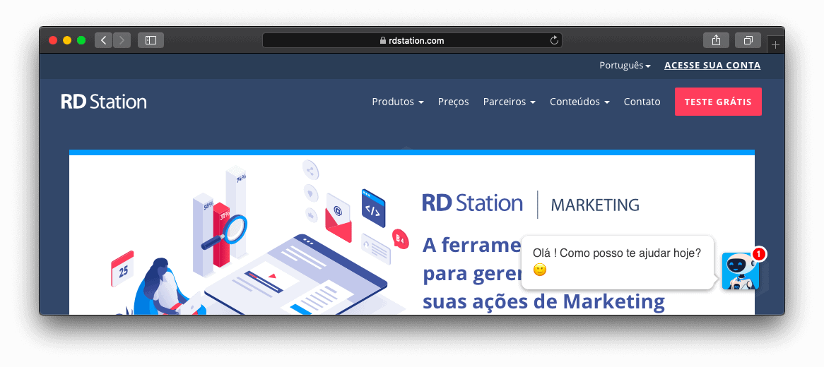 Site da RD Station