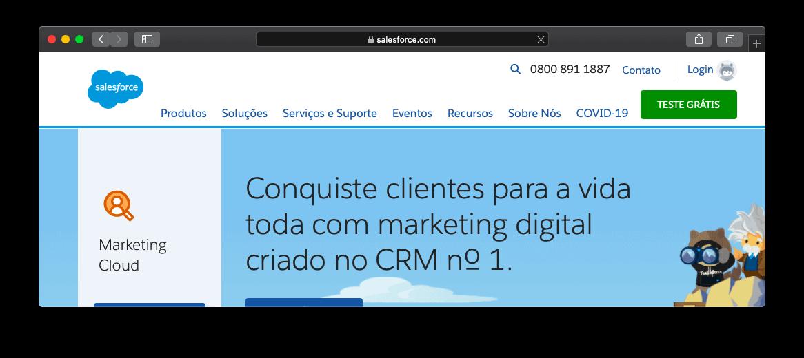 Site da Salesforce