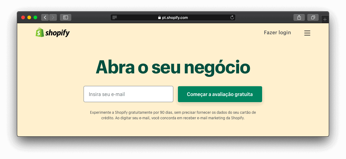 Site do Shopify