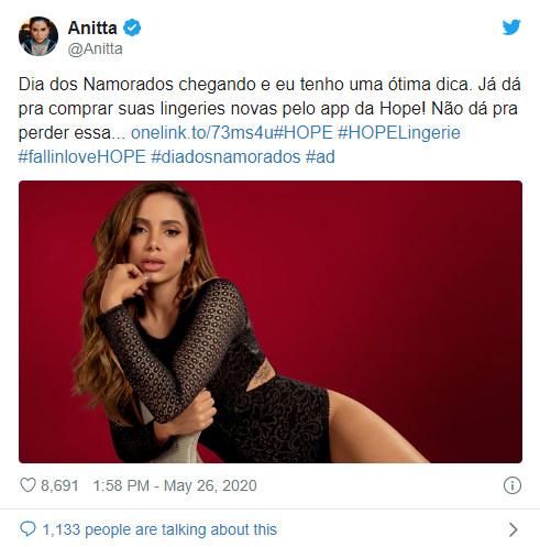 Anitta no Twitter