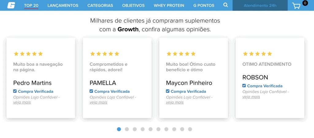 Exemplo de Reviews de Usuários