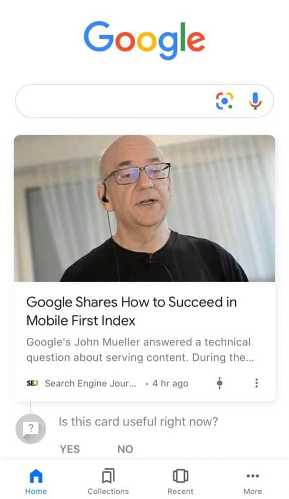 google discover print