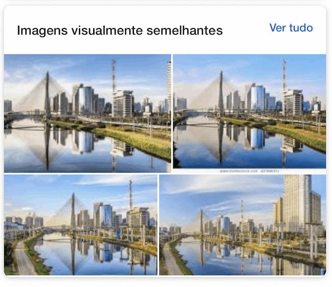 Imagens visualmente semelhantes