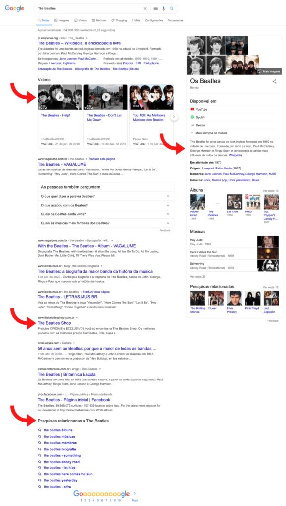 Busca no Google: The Beatles