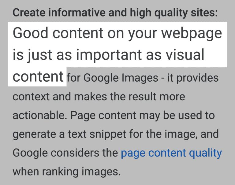 Bom conteúdo na sua página é tão importante quanto seu conteúdo visual