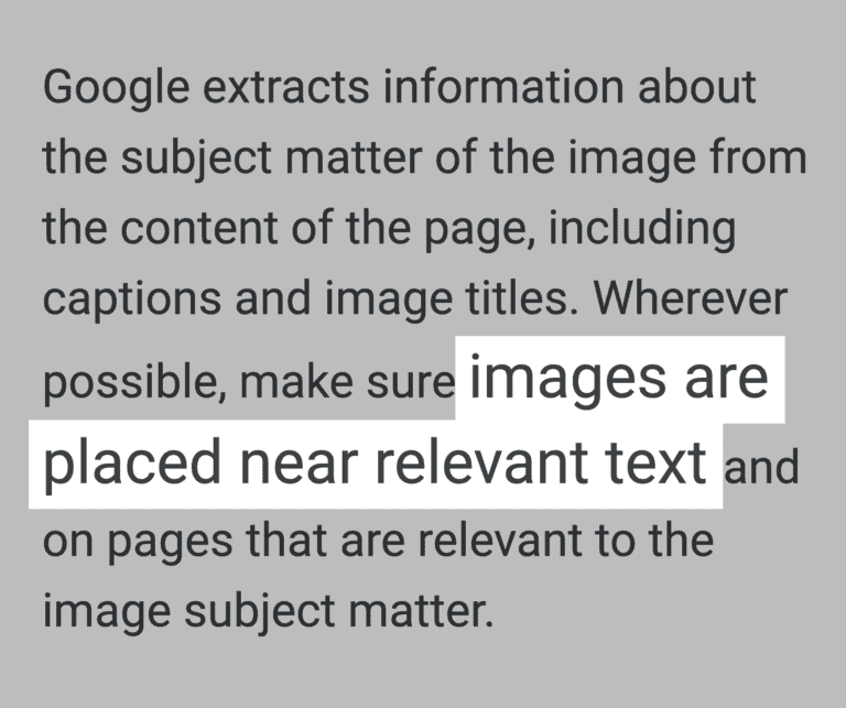 """""""imagens são geralmente posicionadas próximo de  texto relevante"""""""